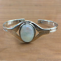 925 Sterling Silver Rainbow Moonstone Jewelry Bangle