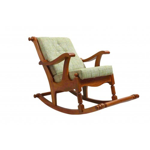 Polished Rocking Wooden Chair