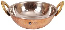 Handmade Stainless Steel Copper Kadai Dish