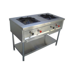 SS Double Burner Cooking Range
