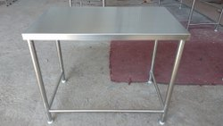 Fort Polished SS Work Tables, Size: 3 Feet