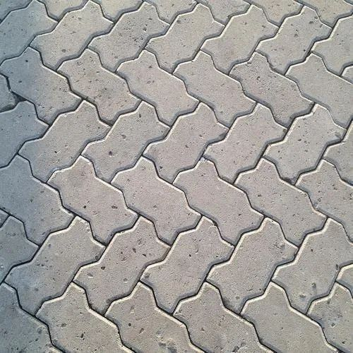Grey Zig-Zag Interlocking Cement Pavers, Thickness: 30-60 Mm, Features: Elegant Look, Durability