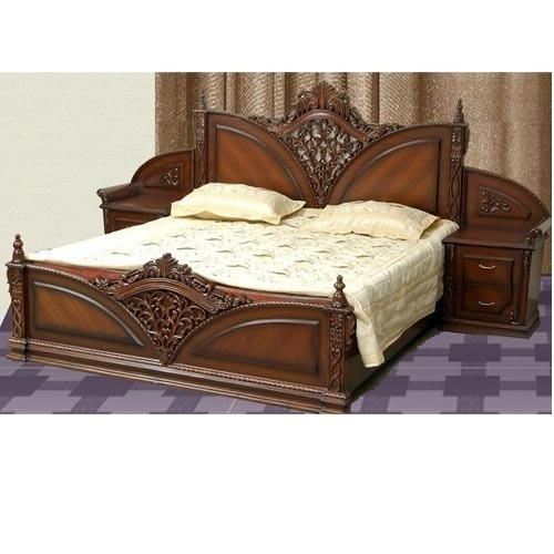 Wood Brown Carving Bed Set Size 6 X 6 Feet Rs 65000 Piece Id