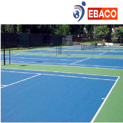 Ebaco Blue and Green PU Sports Flooring