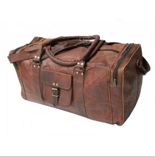 Genuine Leather Brown Vintage Look Unisex Duffle Travel Bag at Rs ... ed96d393a355d