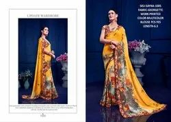 Rachna Georgette Sayna Catalog Saree Set For Woman 5