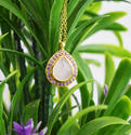 Natural Amethyst and Rose Quartz 925 Sterling Silver Pendant