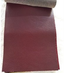 Red Italian upholstery leather