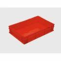 Red Rectangular 13l Plastic Industrial Crate