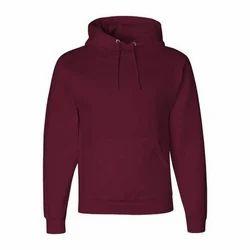 Casual Wear Full Sleeves Men's Plain Hoodie