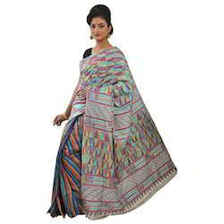 Casual Wear Bishnupur Silk Sarees, With Blouse Piece
