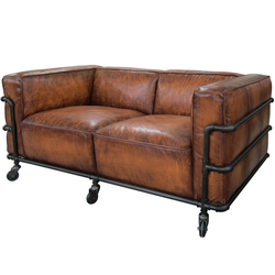 Pipe leather sofa Leather Design Sofa Leather Pipe Sofa, For Home, Bar And Office