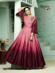 Embroidery Party Wear Long Gown