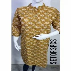 Ladies Casual Wear Cotton Kurtis