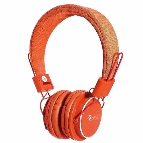Alpino Neev Wireless 3.0  Bluetooth Orange Headset with Mic
