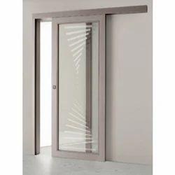 White Stainless Steel Sliding Door