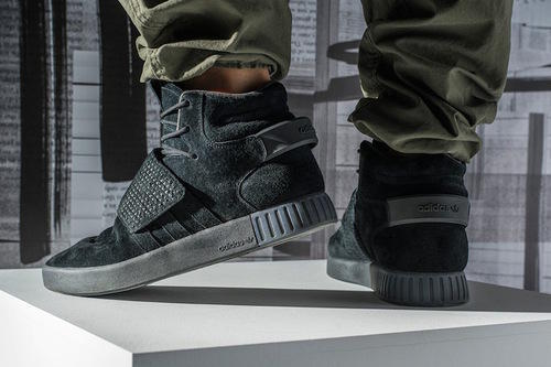 3d50dfcdb124 Adidas Tubular Invader Strap Leather Mid-Top Shoes
