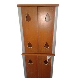 Hinged Brown Wooden Pooja Cabinet, For Home, Number Of Doors: 2
