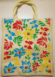 Laminated Jute Bag, Size: 14x12x5 cm