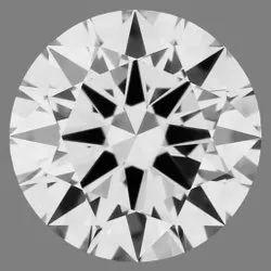 0.74ct Lab Grown Diamond CVD F VVS1 Round Brilliant Cut  HRD Certified Stone