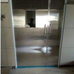 Silver Hinged Stainless Steel Hospital Door