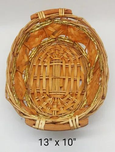 Brown And Coffee Cane Basket