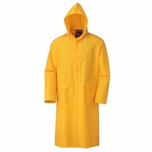 bd4df07661917 Men Yellow Mens PVC Long Raincoat