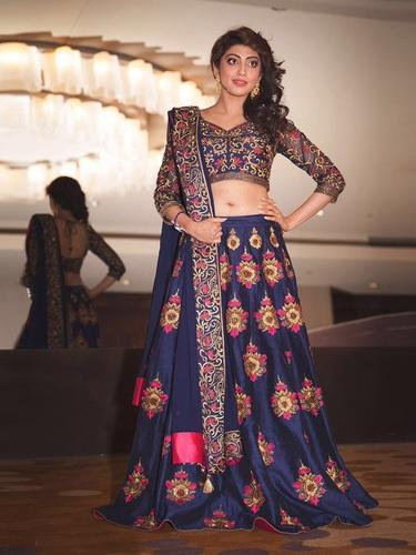 fda72864be BLUE Free Size Embroidered Work Lehenga Choli, Rs 1649 /piece | ID ...