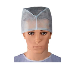 Disposable White Surgical Cap
