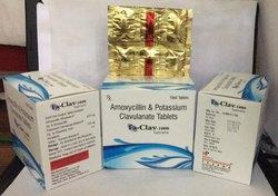 Amoxycillin and Potassium Clavulanate 1000mg Tablets