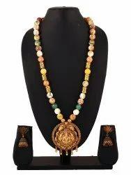 SPJ023 Semi Precious Combined Antique Gold Temple Pendant
