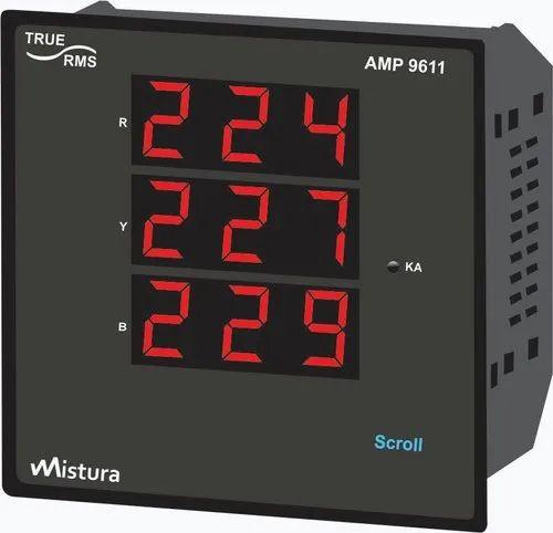 Mistura Led 3-Phase Multi Function Meter & Power Analyzer, Pm-9611h, 415