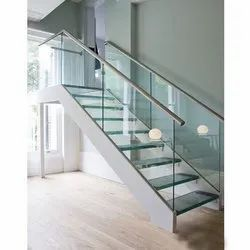 Glass Staircase for Commercial