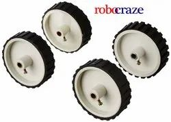 Robocraze Robot Wheel for 6 mm Shaft Geared Dc Motor (7 cm x 2 cm)