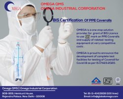 BIS Certification Of PPE Coveralls As Per IS 17423.