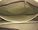 Black Canvas Leather Shoulder Bag