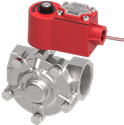 1 1/2 Pilot Operated Diaphragm Type Solenoid High Pressure Valve (NC) with Manual Override (FLP)