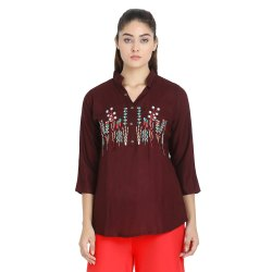 Front Embroidered Top