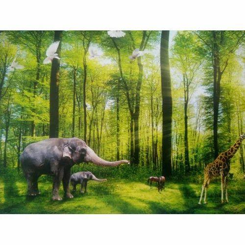 Vinyl Forest 3D Wallpaper, Thickness: 1-3 mm