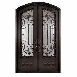Wrought Iron Brown Door