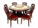Mobel Furniture Standard Height Rosa Dining Table Set