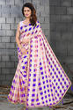 Latest Women Organza Checks Saree Catalog