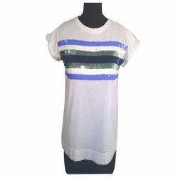 Cotton Printed Ladies Half Sleeve Casual Top, Size: S-XXL