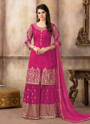 Upada Silk Designer Sharara Suits Collection