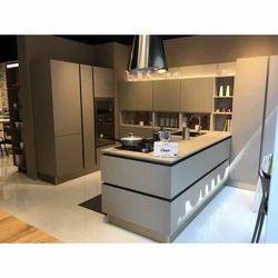 L Shape Laminated Modular Kitchen