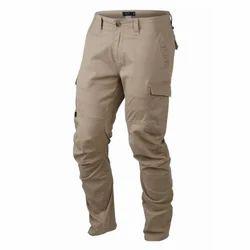 Mount Star Brown Cotton Cargo Pant