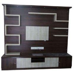 Floor Type Brown Designer Tv Cabinet