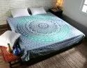 Mandala Printed Wall Decorative Cotton Blue Tapestries