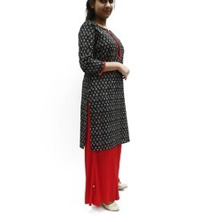 Women's Cotton Kurti With Placket