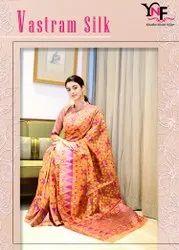 Vastram Silk Organza Silk Saree by Yadu Nandan Fashion